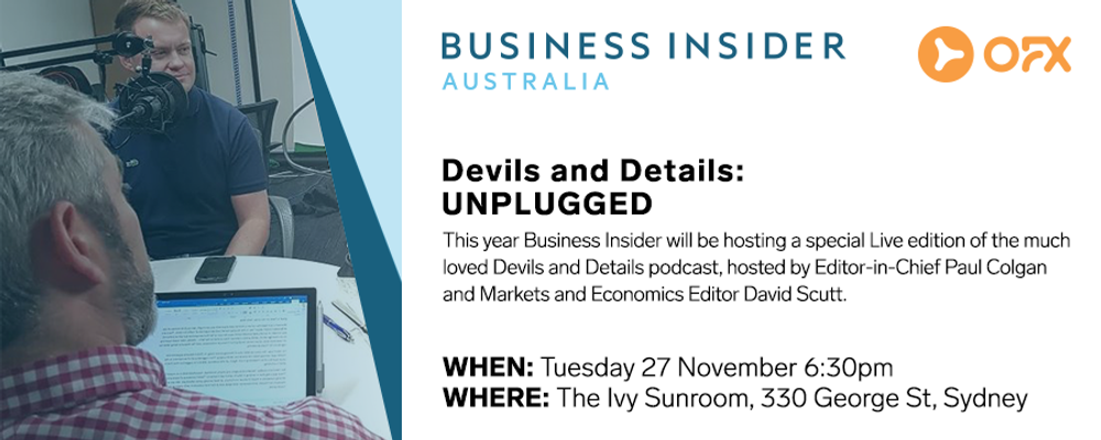 SOLD OUT: Business Insider presents Devils and Details: Unplugged Event Banner