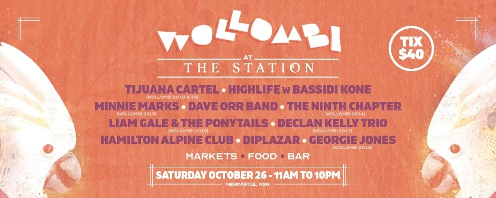 Wollombi at The Station Newcastle 2019 Event Banner