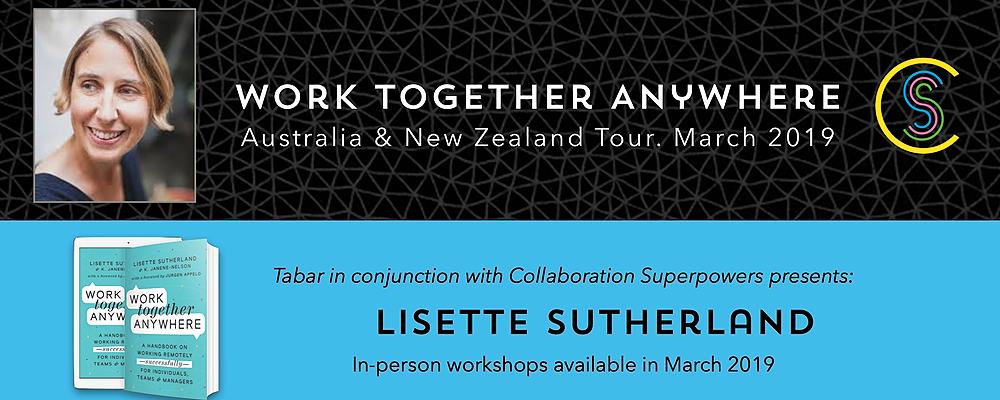 Work Together Anywhere Workshop (online) Event Banner