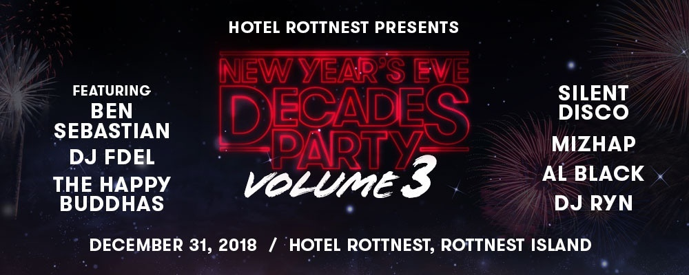 Hotel Rottnest Presents: Decades Party Volume 3 Event Banner