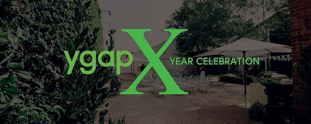 YGAP's 10 Year Birthday Event Banner