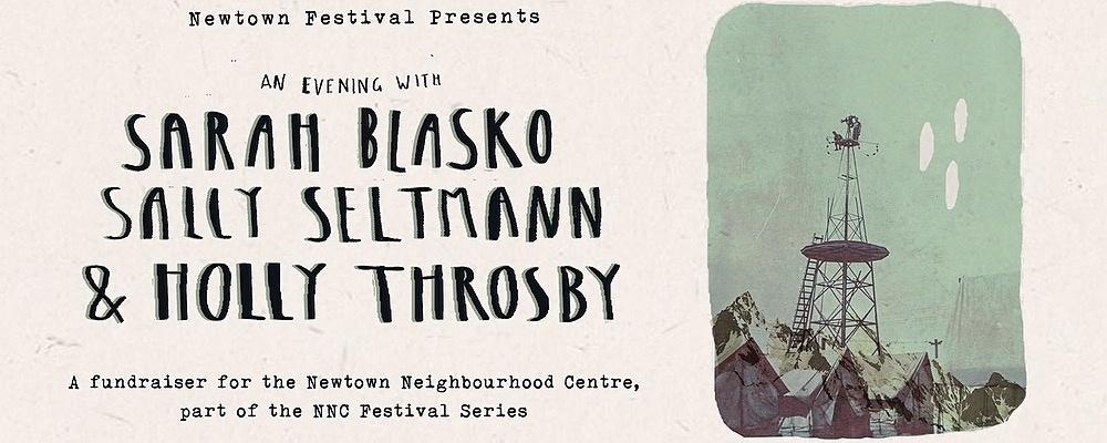 Newtown Festival Presents: Sarah Blasko, Holly Throsby & Sally Seltmann Event Banner