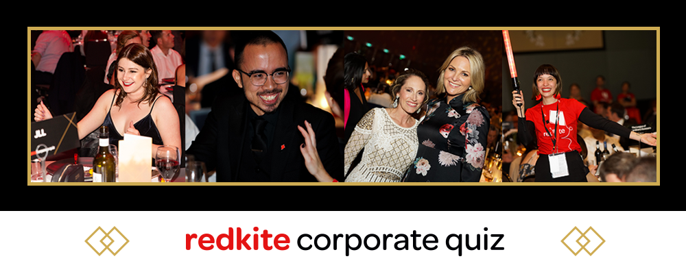 2019 QLD Redkite Corporate Quiz Event Banner