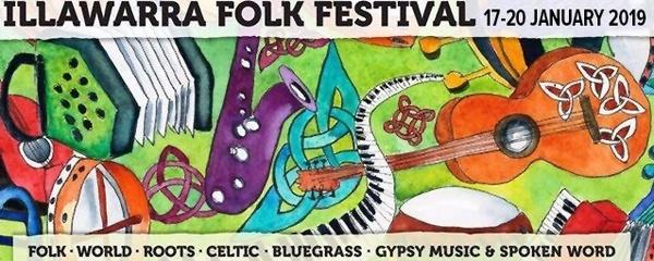 34th Illawarra Folk Festival 17-20 January 2019  Event Banner