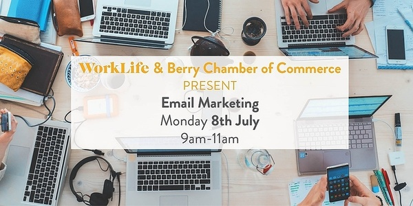 Workshop: Email marketing 101 & finding your perfect audience Event Banner