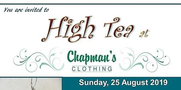 High Tea at Chapman's Fashion Event Banner