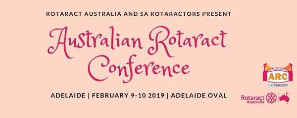 Australian Rotaract Conference - RADelaide Edition Event Banner
