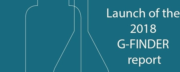 Launch of the 2018 G-FINDER report Event Banner