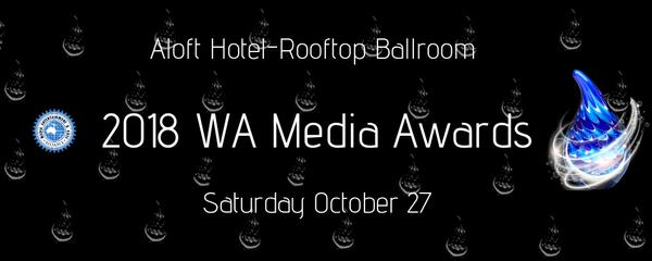 2018 WA Media Awards  Event Banner