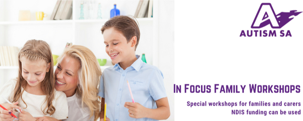 Video modelling: the use of video footage to teach new skills - In Focus Family Workshops - ELIZABETH Event Banner