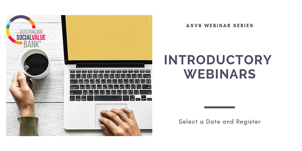 Introductory Webinar February - Australian Social Value Bank (ASVB) Event Banner