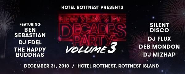 Hotel Rottnest Presents: Decades Party Volume 3 Event Banner
