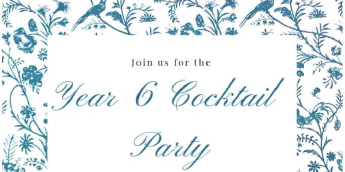 CCPS Year 6 Cocktail Party Event Banner