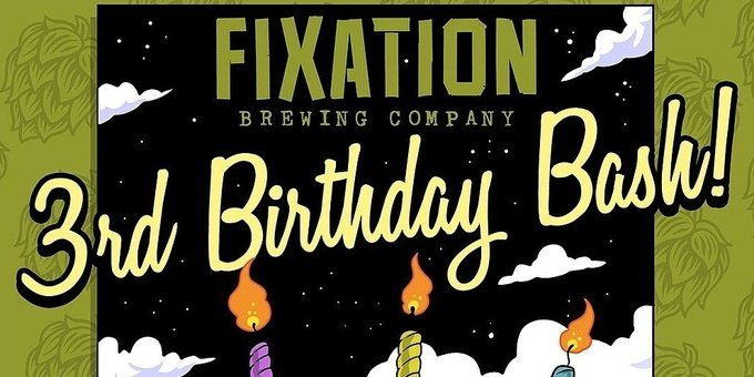 Fixation 3rd Birthday Bash Event Banner