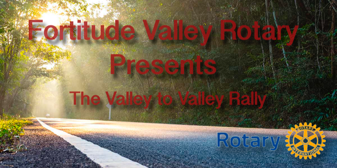 Rotary Valley to Valley Rally Event Banner