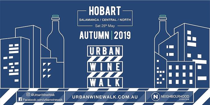 08f87287385283 Urban Wine Walk Hobart (Salamanca   Central   North) Event Banner