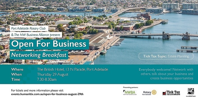 Open For Business-Networking Event Banner
