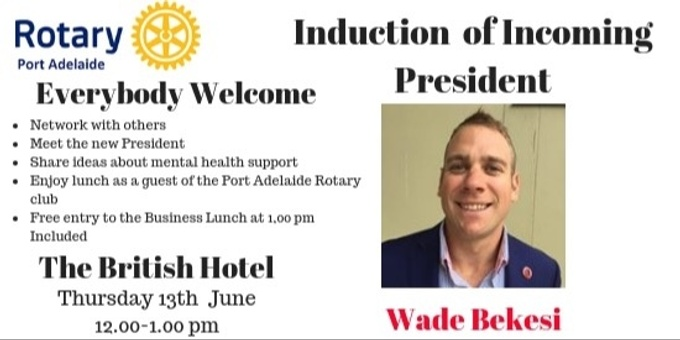 Induction of New President-Port Adelaide Rotary Club Event Banner
