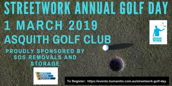 StreetWork Golf Day - 1 March 2019 Event Banner