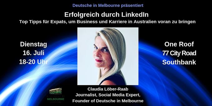 Erfolgreich durch LinkedIn - Top Tipps für Expats in Australien, um Karriere & Business voran zu bringen Event Banner