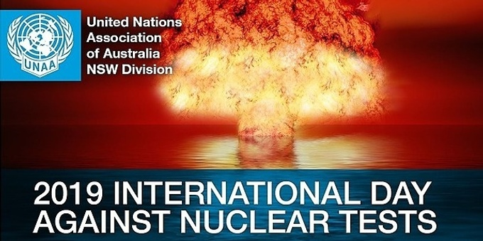 2019 INTERNATIONAL DAY AGAINST NUCLEAR TESTS Event Banner