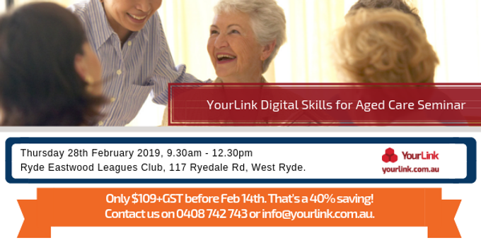 Digital Skills for Aged Care Event Banner