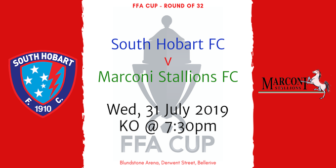FFA Cup 2019 Round of 32 - South Hobart FC v Marconi Stallions FC Event Banner
