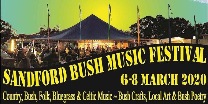 Sandford Bush Music Festival 2020 Event Banner