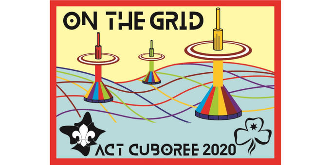 """Cuboree 2020 """"On the Grid"""" Event Banner"""