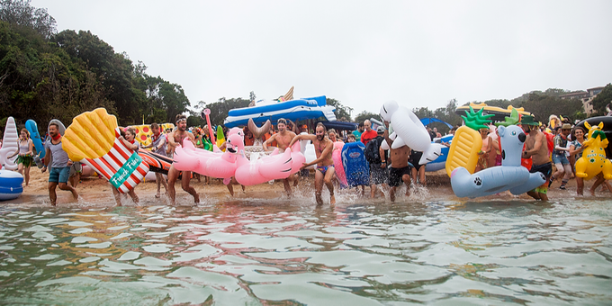 Manly Inflatable Boat Race - 2019 Event Banner