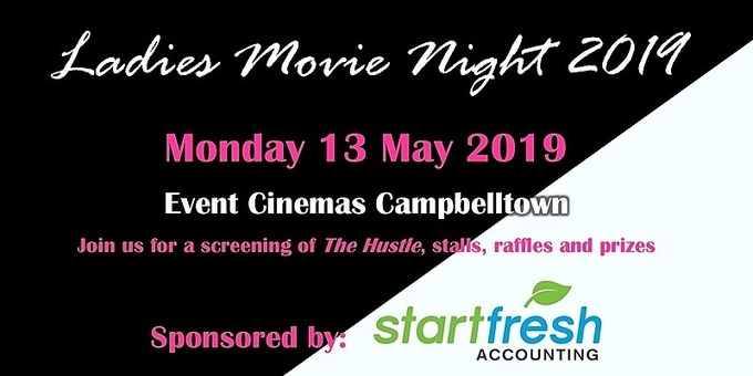 Youth Solutions Ladies Movie Night 2019 Event Banner