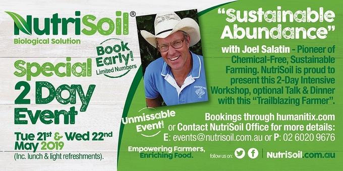 Sustainable Abundance with Joel Salatin Event Banner