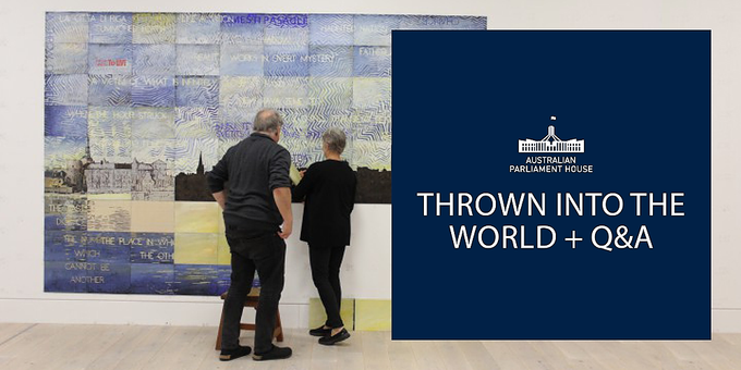 Free Film Screening: 'Thrown Into The World' + Q&A with Justine van Mourik and Imants Tillers Event Banner