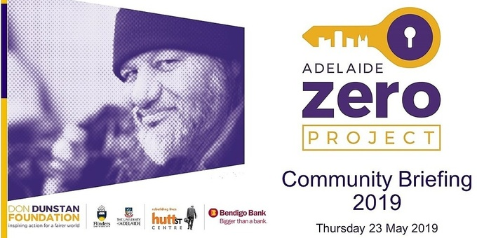 Adelaide Zero Project Community Briefing 2019 Event Banner