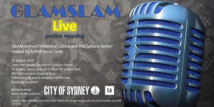 GLAMSLAM Live: Podcast recording Event Banner