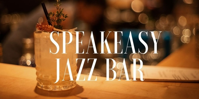 Speakeasy Jazz Bar Event Banner