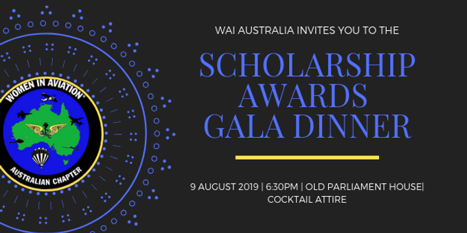 WAI Australia Scholarship Awards Gala Dinner 2019 Event Banner