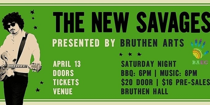 Bruthen Arts Presents: The New Savages live at Bruthen Hall Event Banner