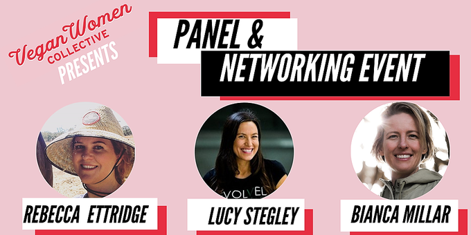 Vegan Women Collective Panel and networking session at Wombat Cafe & Store Event Banner