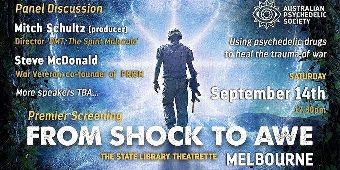'From Shock to Awe' Premier Screening - Melbourne Event Banner