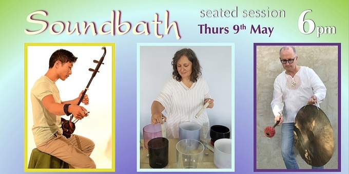Soundbath at 6pm (seated session) Event Banner