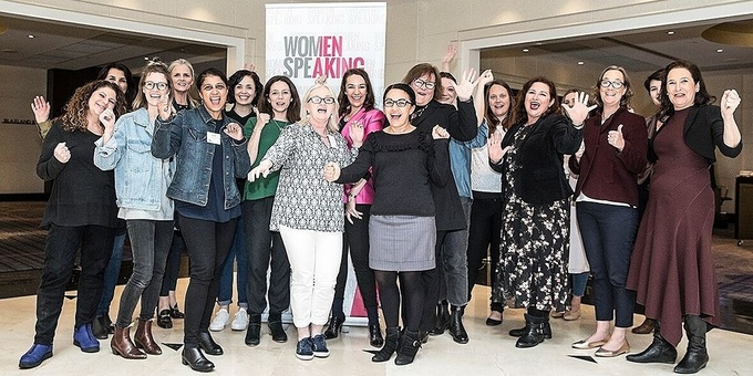 WomenSpeaking - Learn to deliver a great speech in 1 day | Brisbane Event Banner