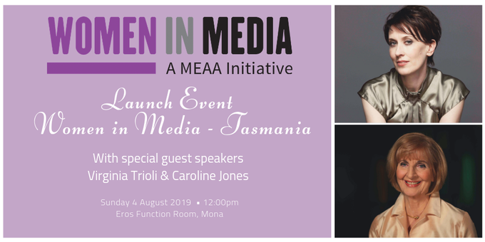 Women in Media Tasmania Launch Event Banner