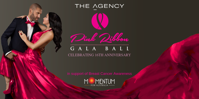 The Agency Pink Ribbon Ball 2019 Event Banner