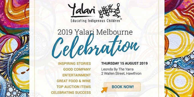 The Yalari Dinner | Melbourne 2019 Event Banner