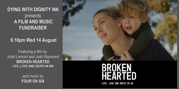 Dying with Dignity WA Film and Music Fundraiser Event Banner