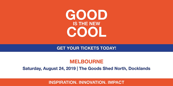 Good is the New Cool Melbourne 2019 Event Banner