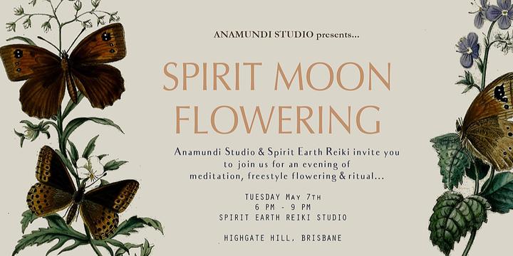 Spirit Moon Flowering Event Banner