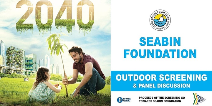 Outdoor Screening 2040 - Seabin Foundation Event Banner
