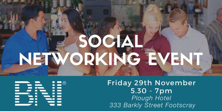 BNI Melbourne North Social Event Event Banner